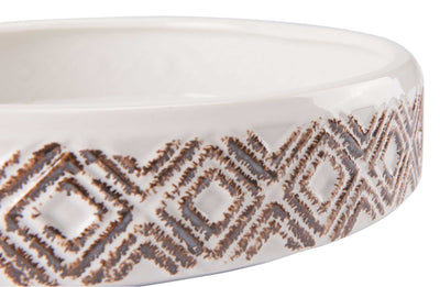 Toba Bowl White/Brown