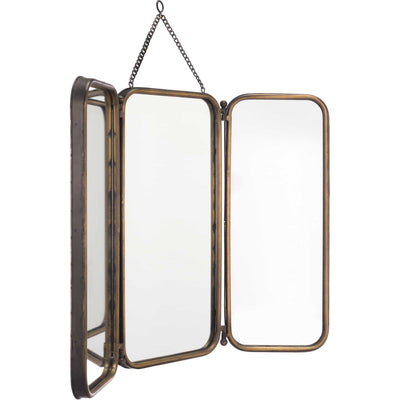 Antique Tri Section Mirror Gold