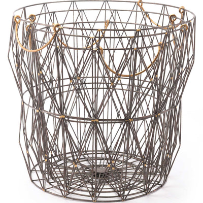Geometric Wire Basket Antique (Set of 3)