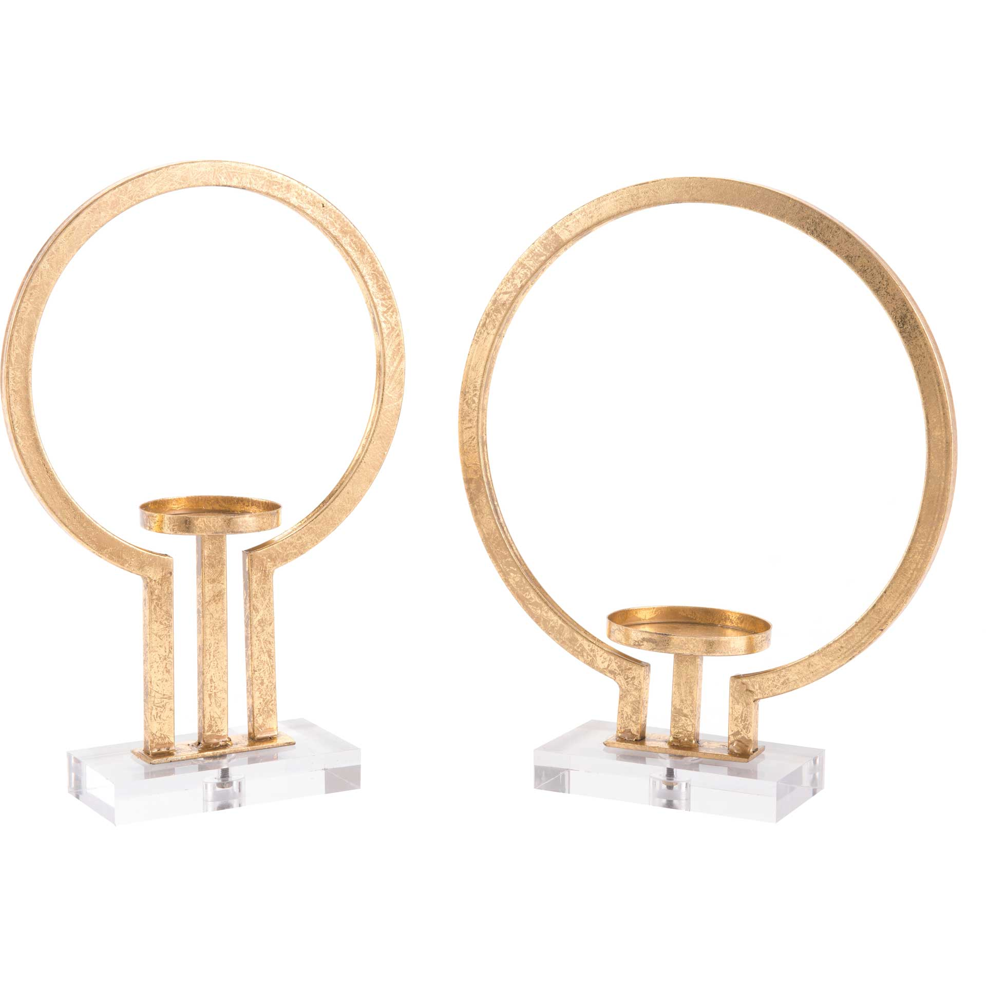 Oly Candle Holders Gold (Set of 2)