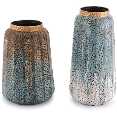 Corroded Antique Vase Multicolor (Set of 2)