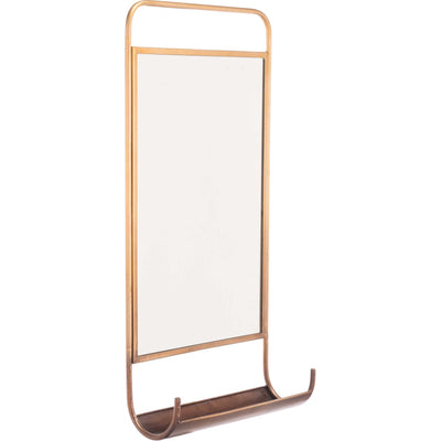 Organizer Shelf Mirror Gold