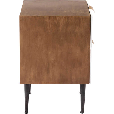 Honeycomb End Table Antique