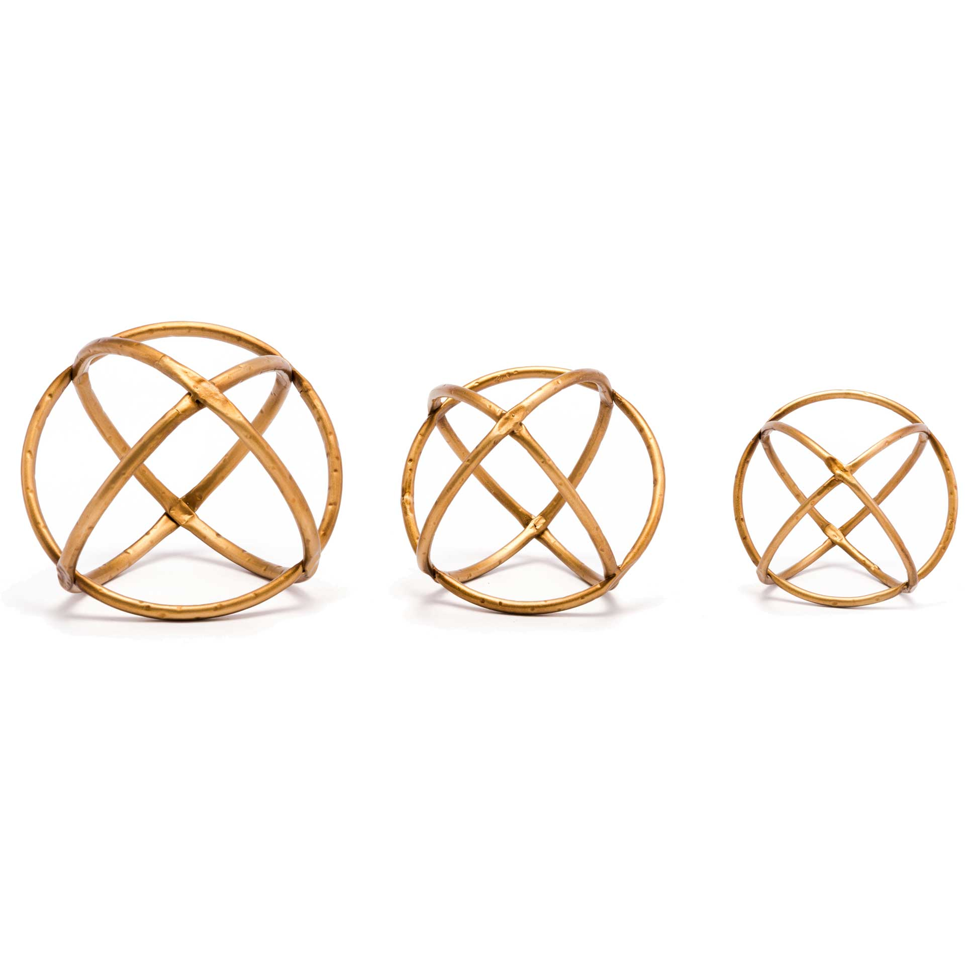 Quattro Orbs Gold (Set of 3)