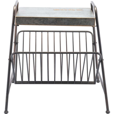 Metal Magazine Rack Antique