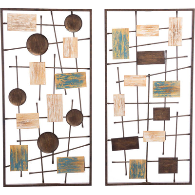 Abstract Wall Decor Antique (Set of 2)