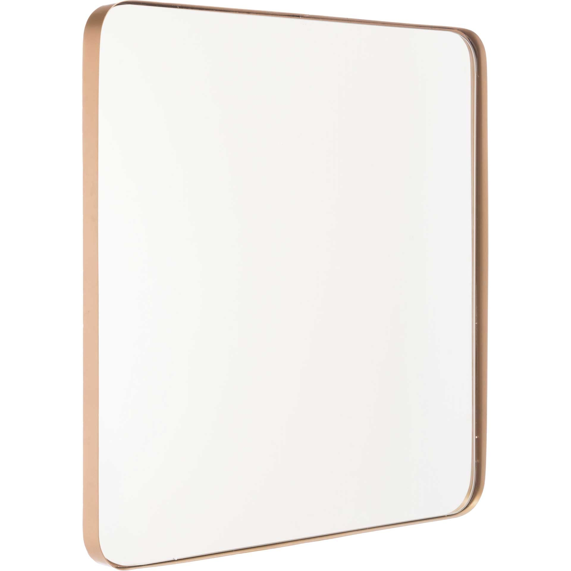 Square Inset Metal Mirror Gold