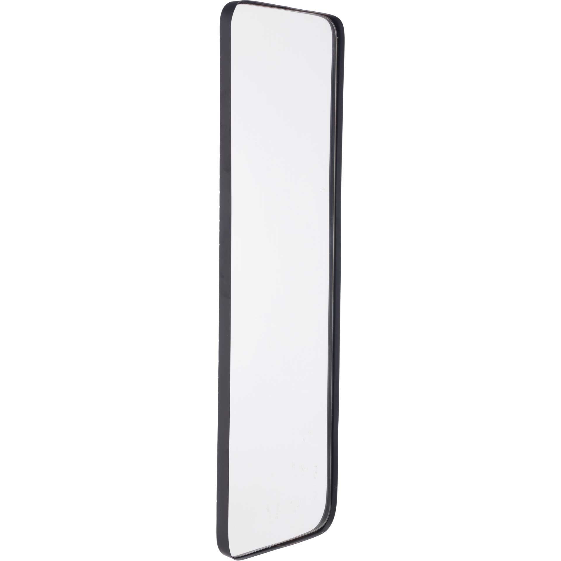Metal Rectangular Mirror Black