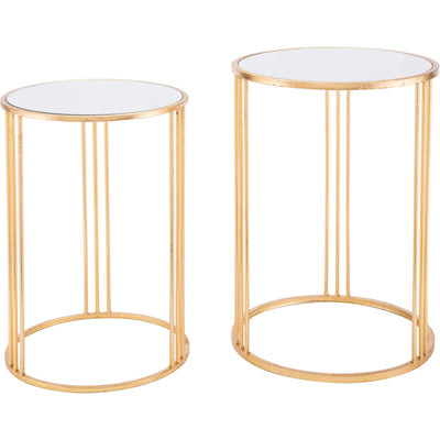 Magri Nesting Round Table Gold (Set of 2)