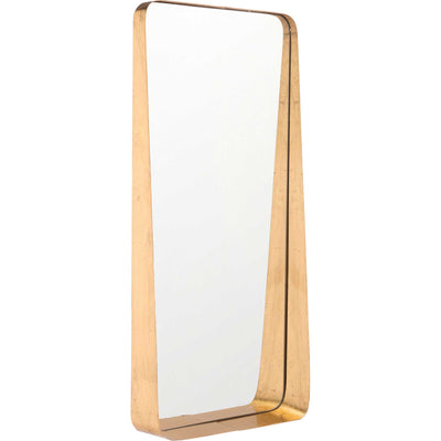 Sloping Tall Mirror Gold