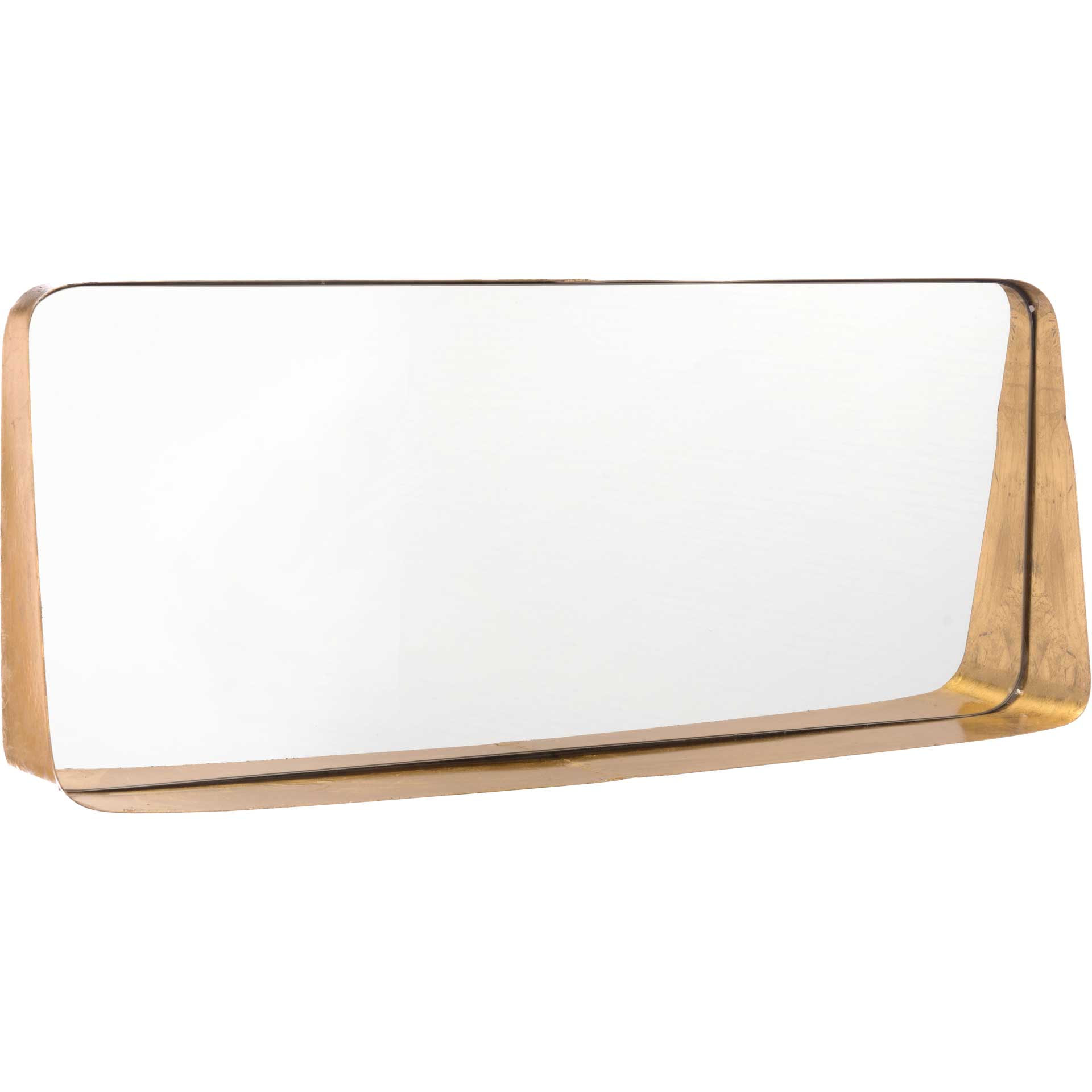 Sloping Short Mirror Gold