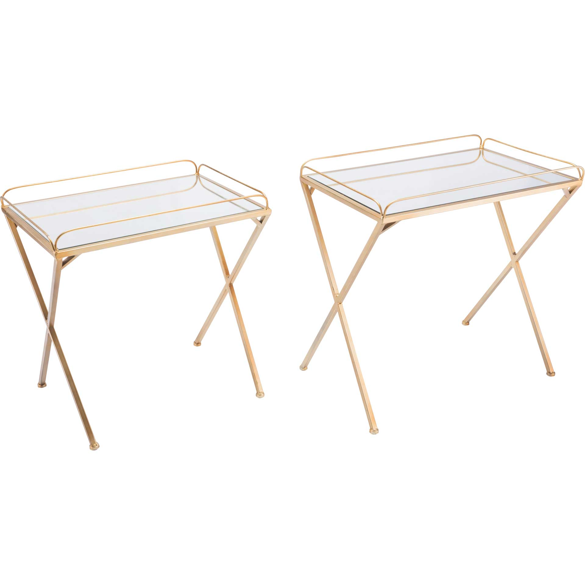 Opposite Table Gold (Set of 2)