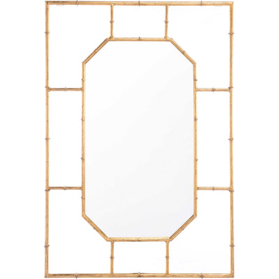 Bamboo Rectangular Mirror Gold