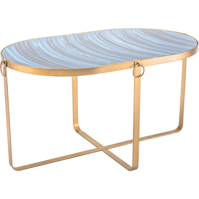 Zaphire Table Blue/Antique Gold (Set of 2)