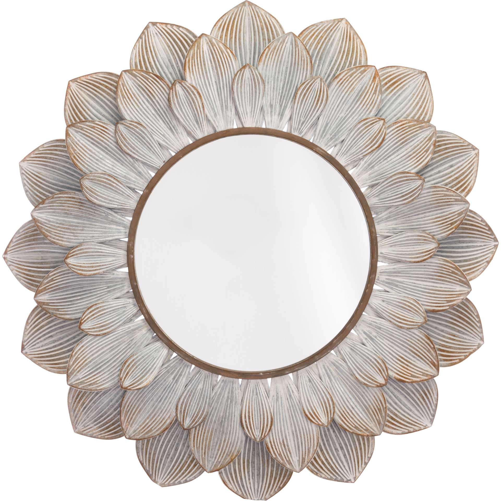 Flora Mirror Distressed Brown