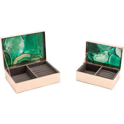 Polished Stone Box Green