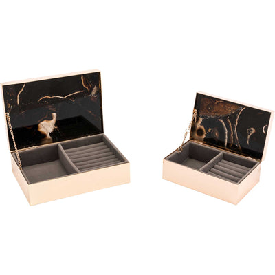 Polished Stone Box Black