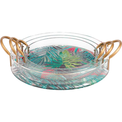 Tropical Tray Multicolor (Set of 3)
