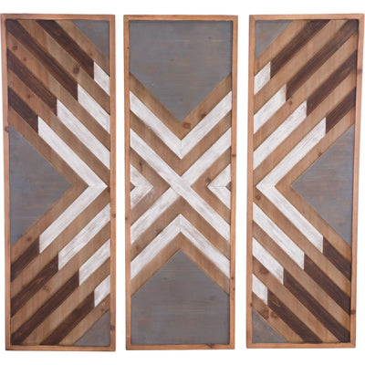 Corners Wall Decor Brown (Set of 3)