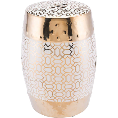 Labyrinth Garden Seat Gold/White