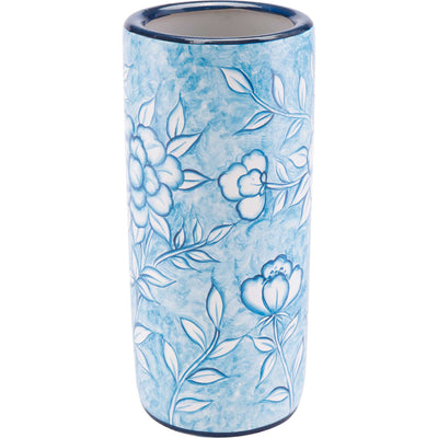 Flower Umbrealla Stand Blue/White