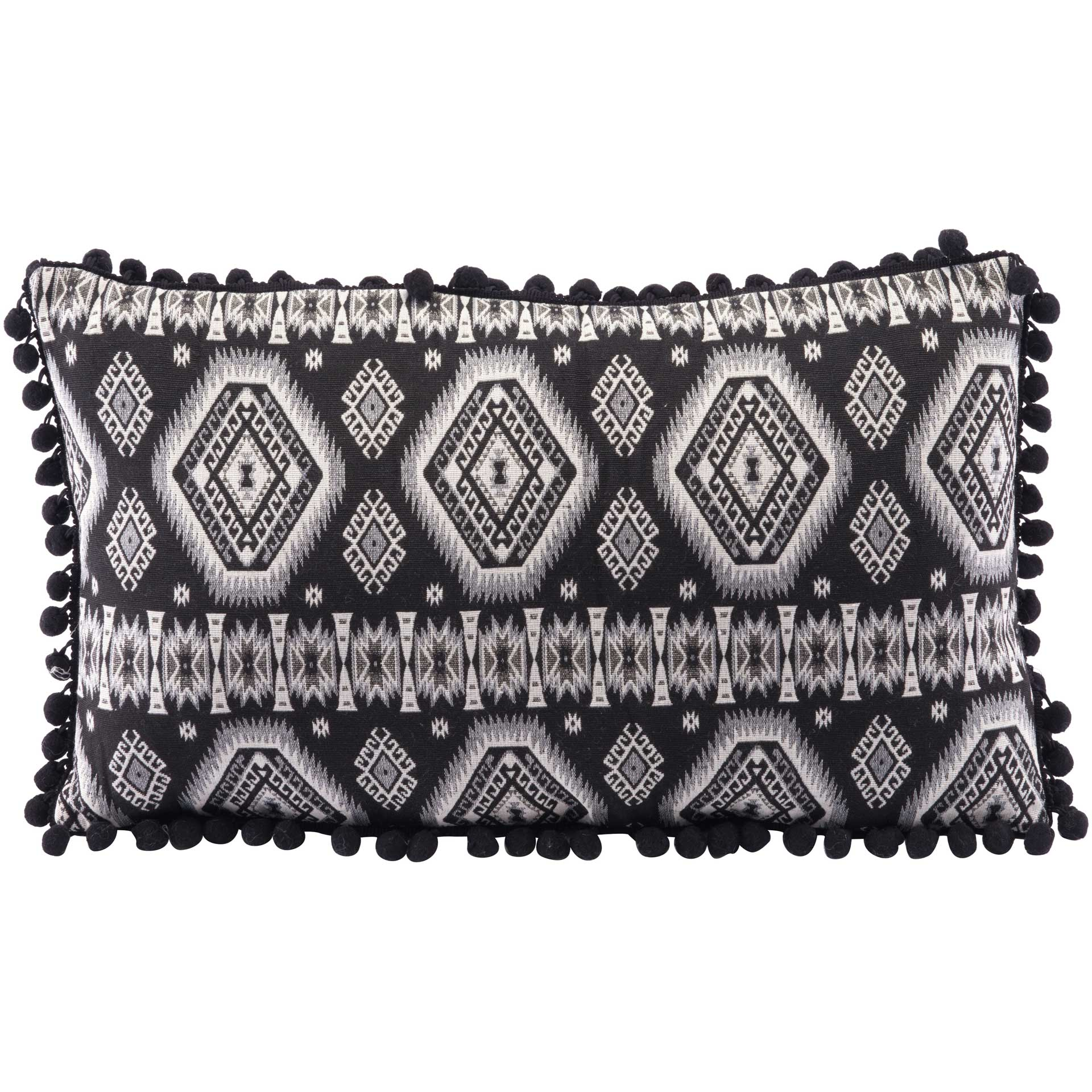 Triangle Pillow Black/White
