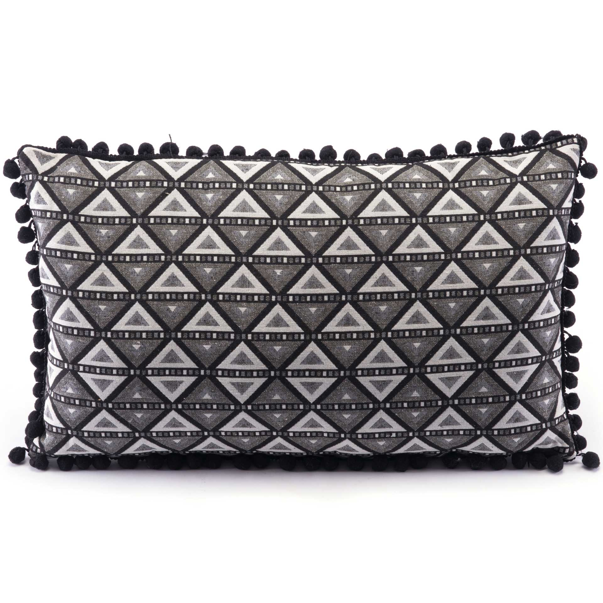 Tribal Triangle Pillow Black/White