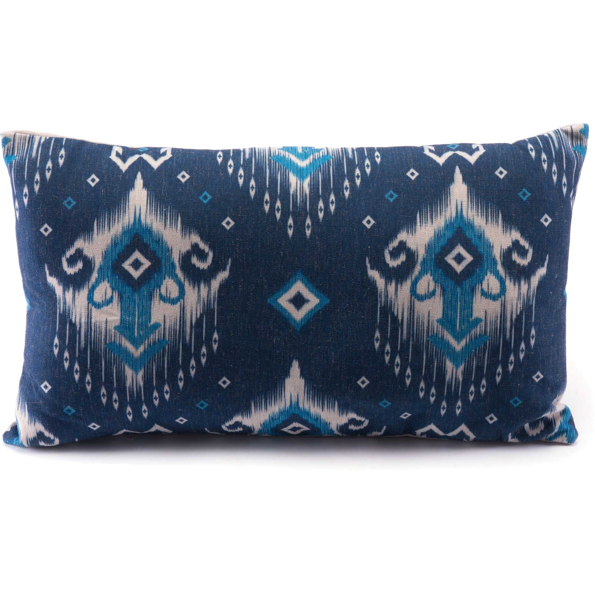 Ikat Pillow 1 Blue/Natural