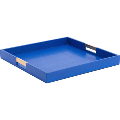 Camba Lizard Skin Tray Blue (Set of 3)