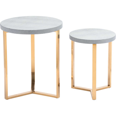 Gela Round Table Gray (Set of 2)