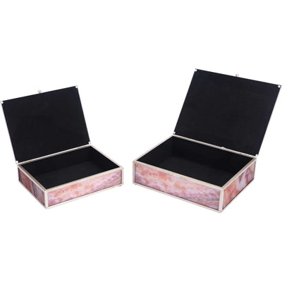 Mundi Boxes Pink Geode (Set of 2)
