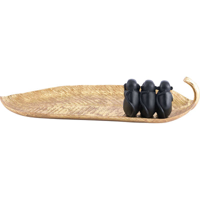 Paseo Leaf Gold/Black