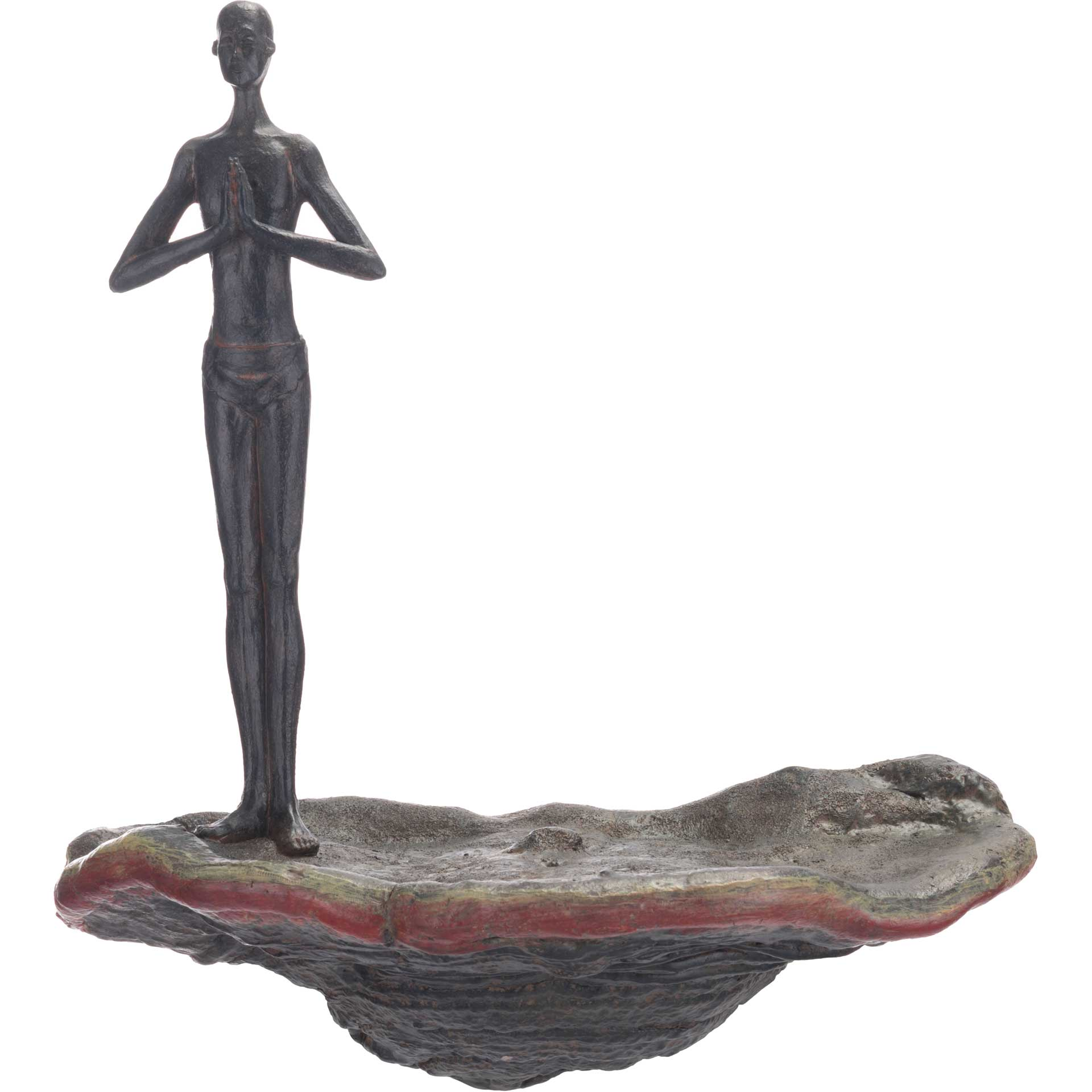 Waiting Figurine Wall Decor Bronze