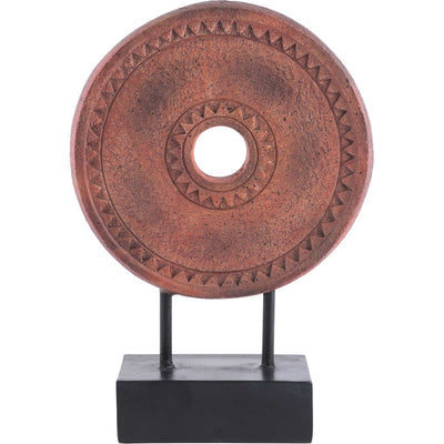 Ancient Coin Figurine Brown