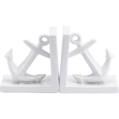 Anchors Bookends White