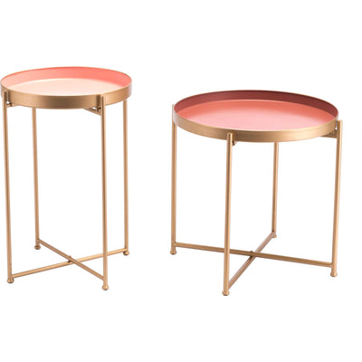 Loft End Table Pink