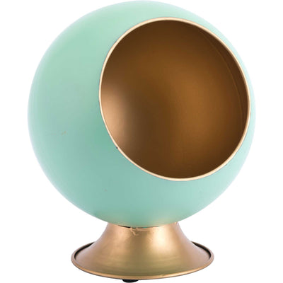 Nest Small Metal Planter Green