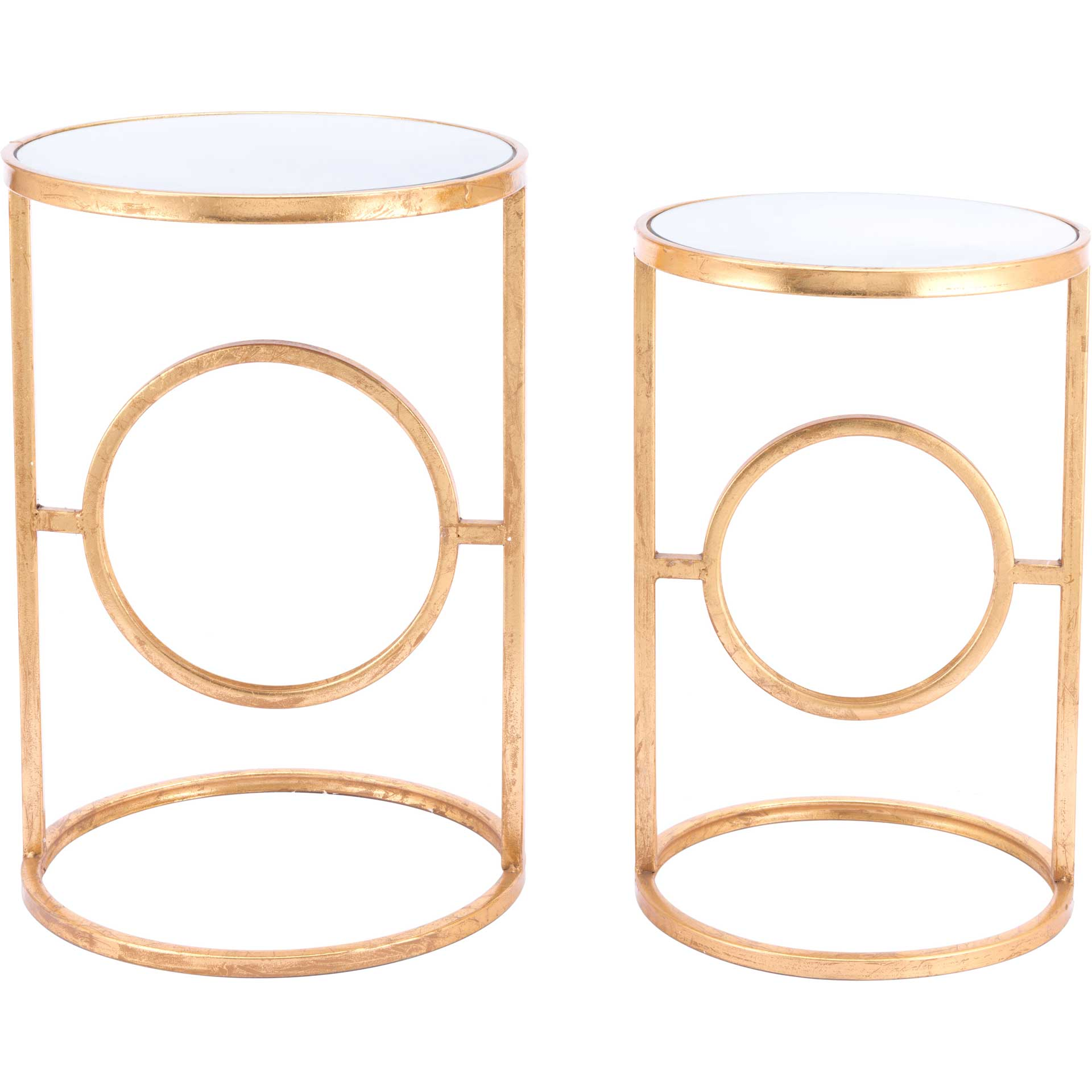 Aro End Table Gold (Set of 2)