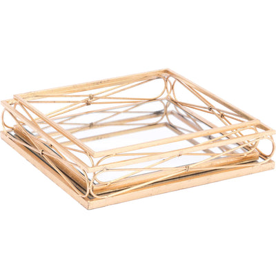 Twisted Tray Gold (Set of 2)