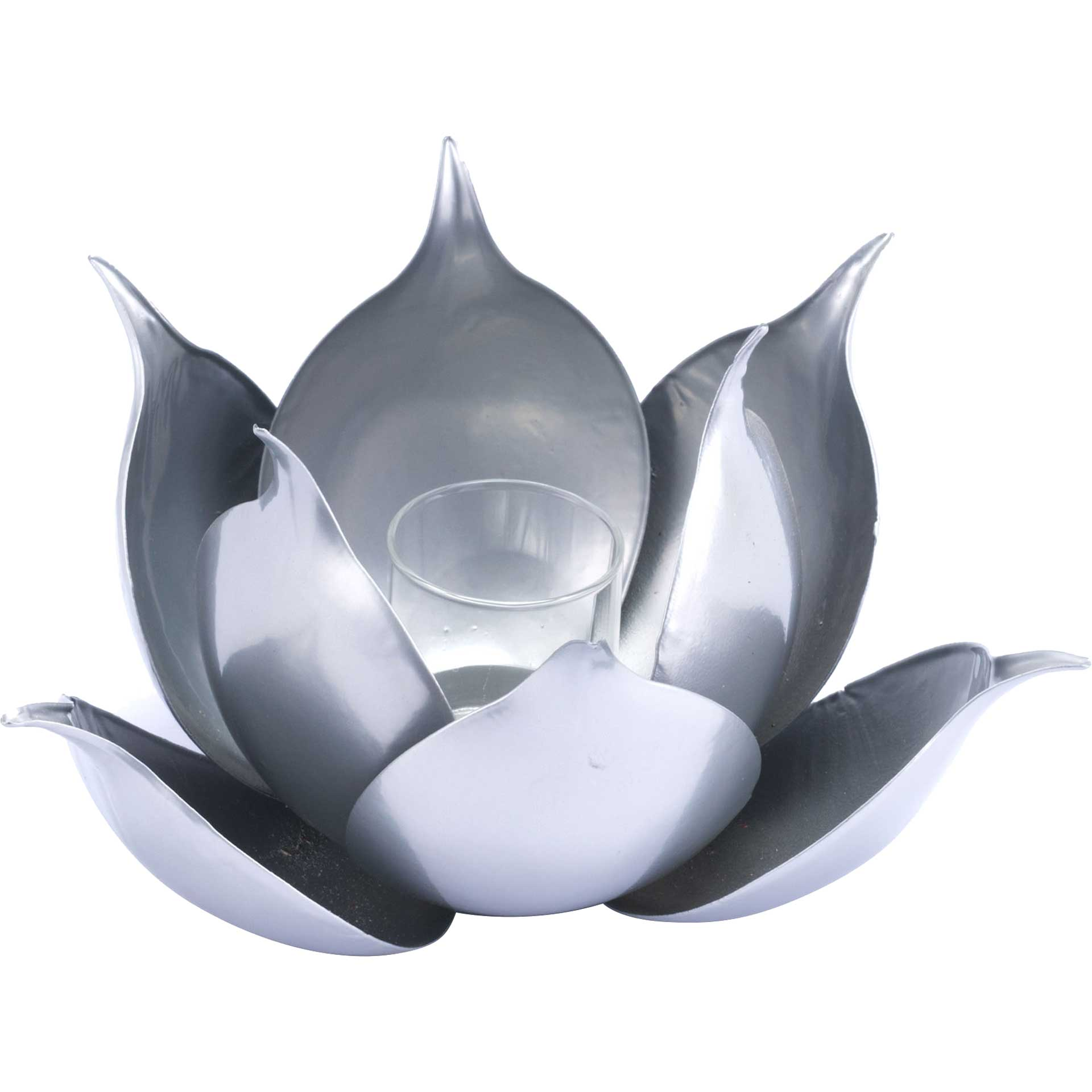 Lotus Candle Holder Silver