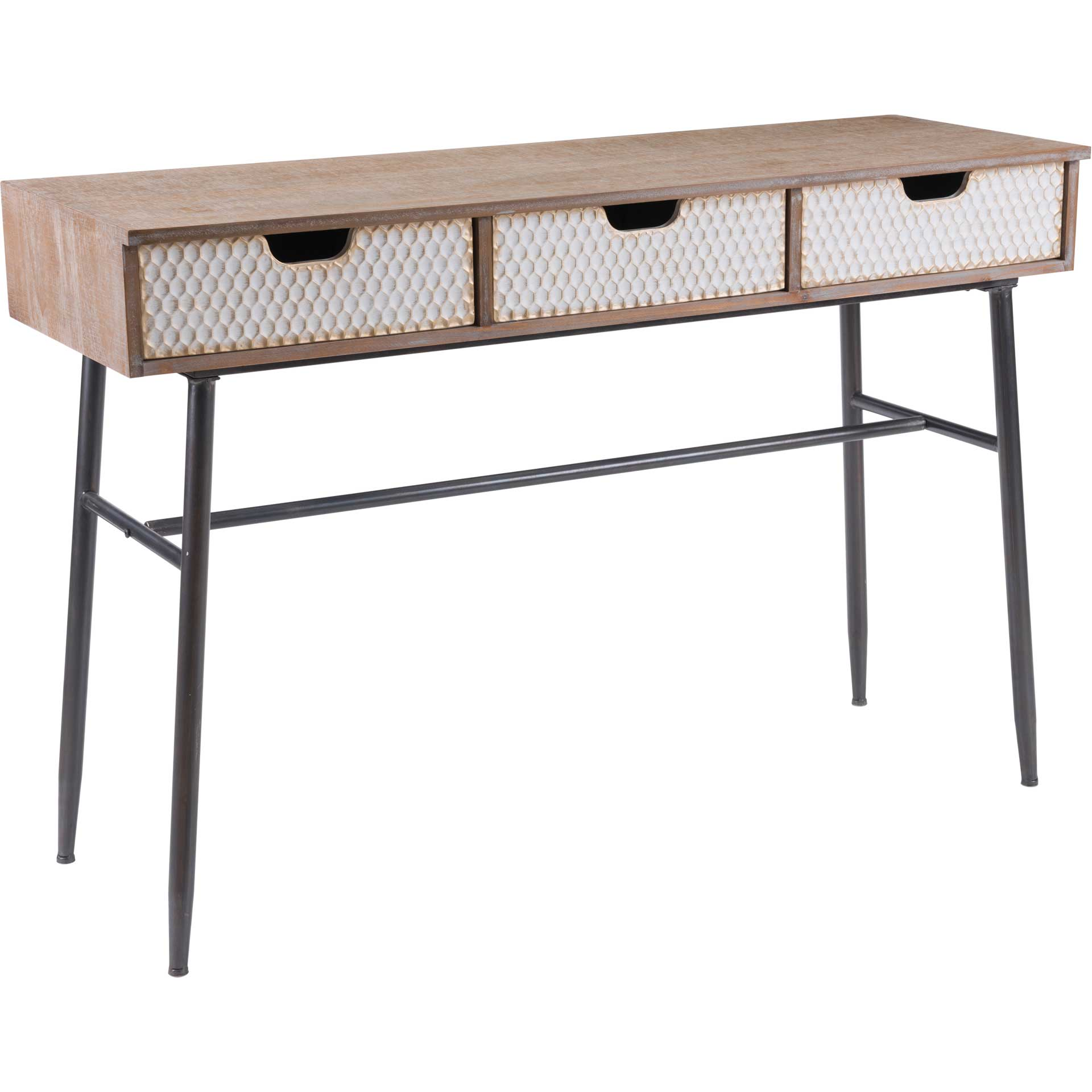 Honeycomb Desk Natural/White