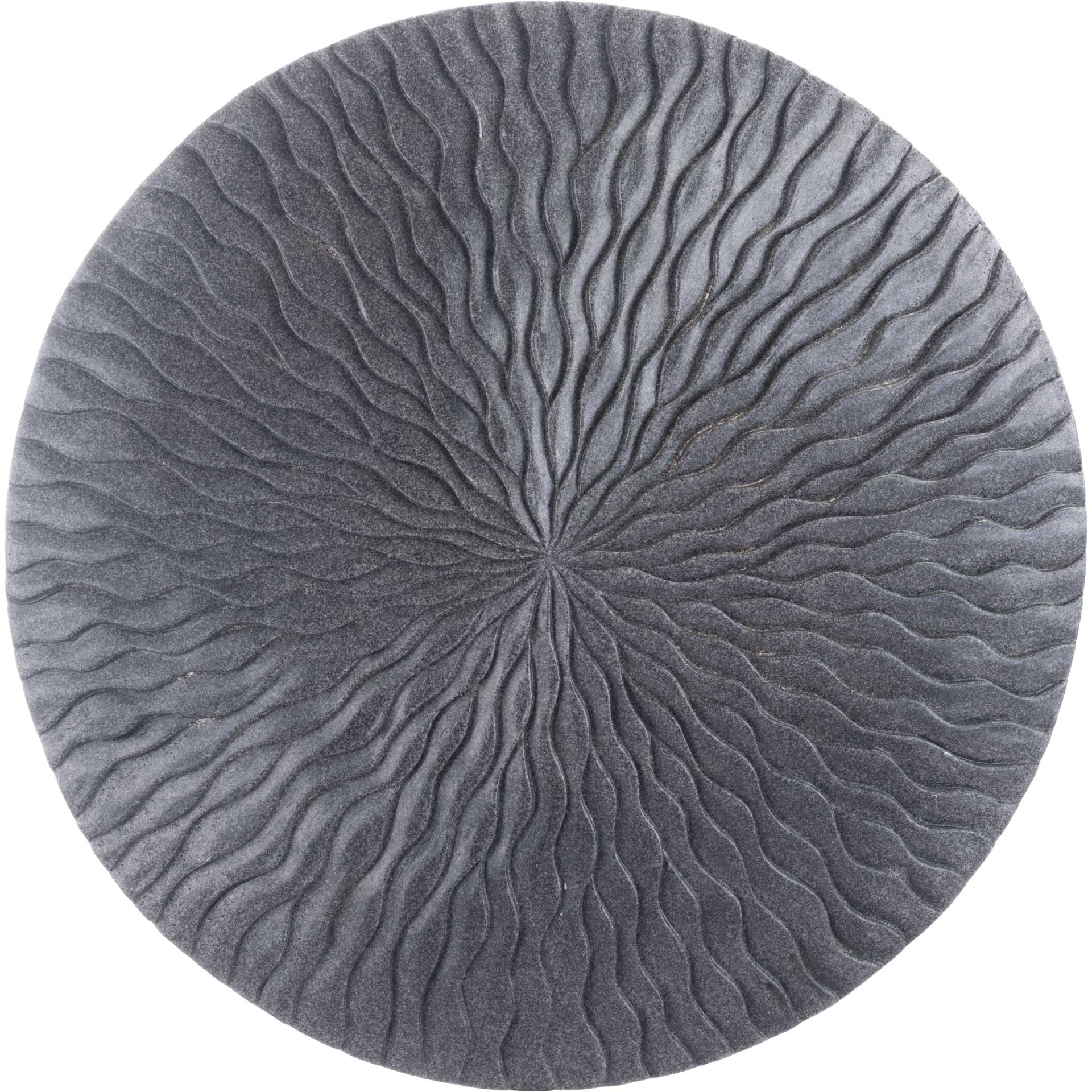 Wave Round Plaque Dark Gray
