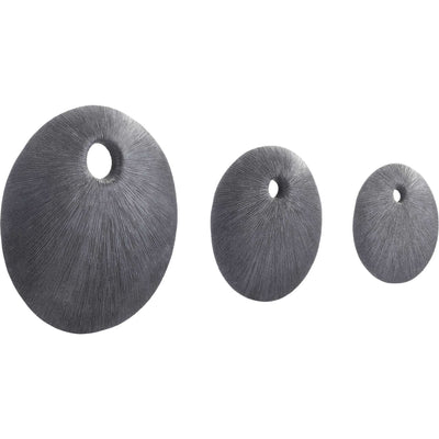 Round Eye Plaque Dark Gray