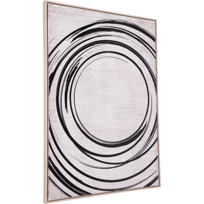 Living Circle Canvas Black/Cream