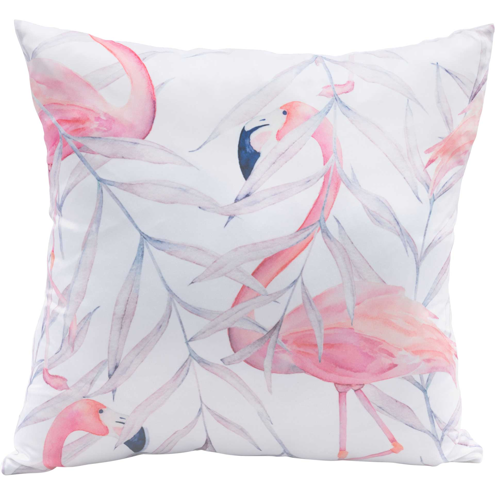 Watercolor Flamingo Pillow