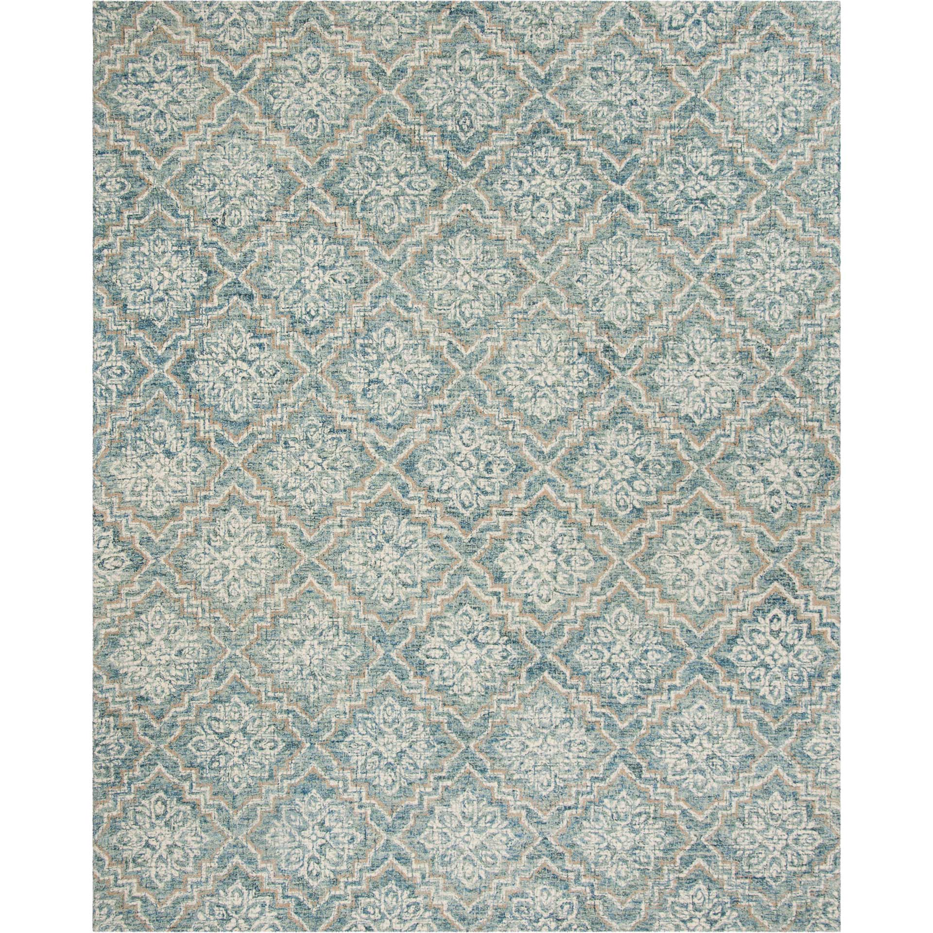 Abstract Blue/Gray Area Rug