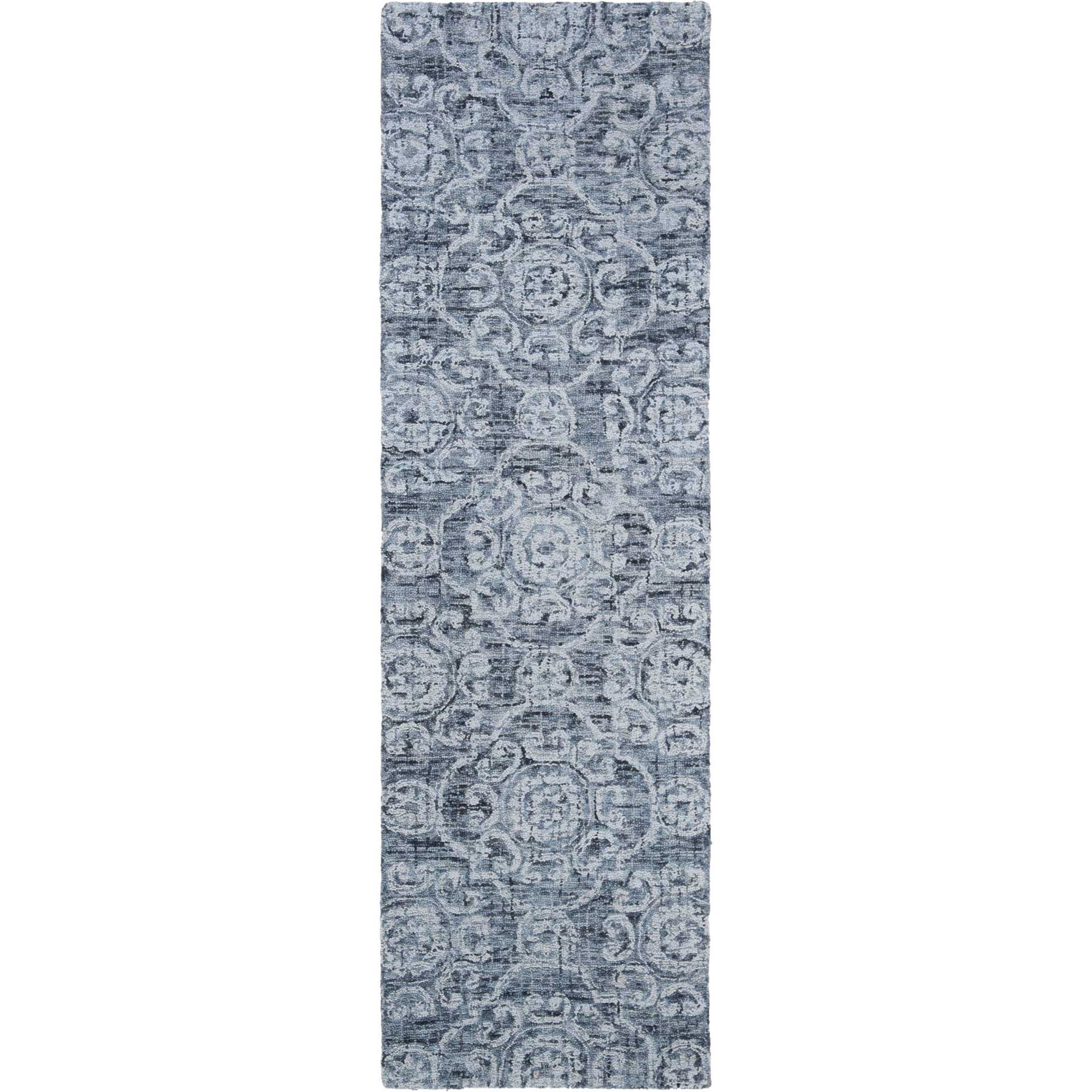 Abstract Blue Runner Rug