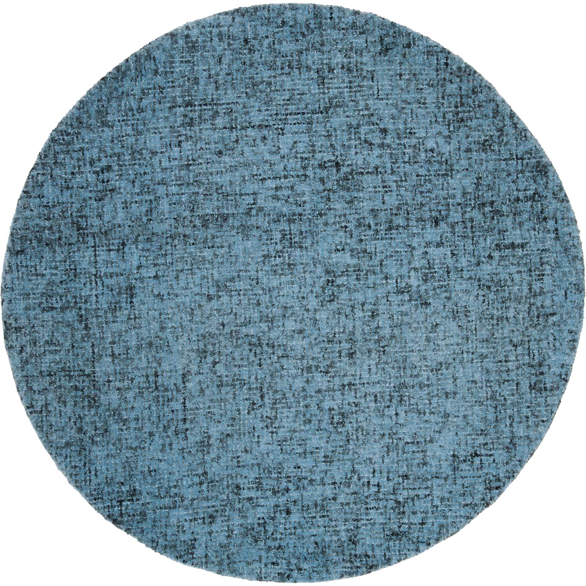 Abstract Blue/Multi Round Rug