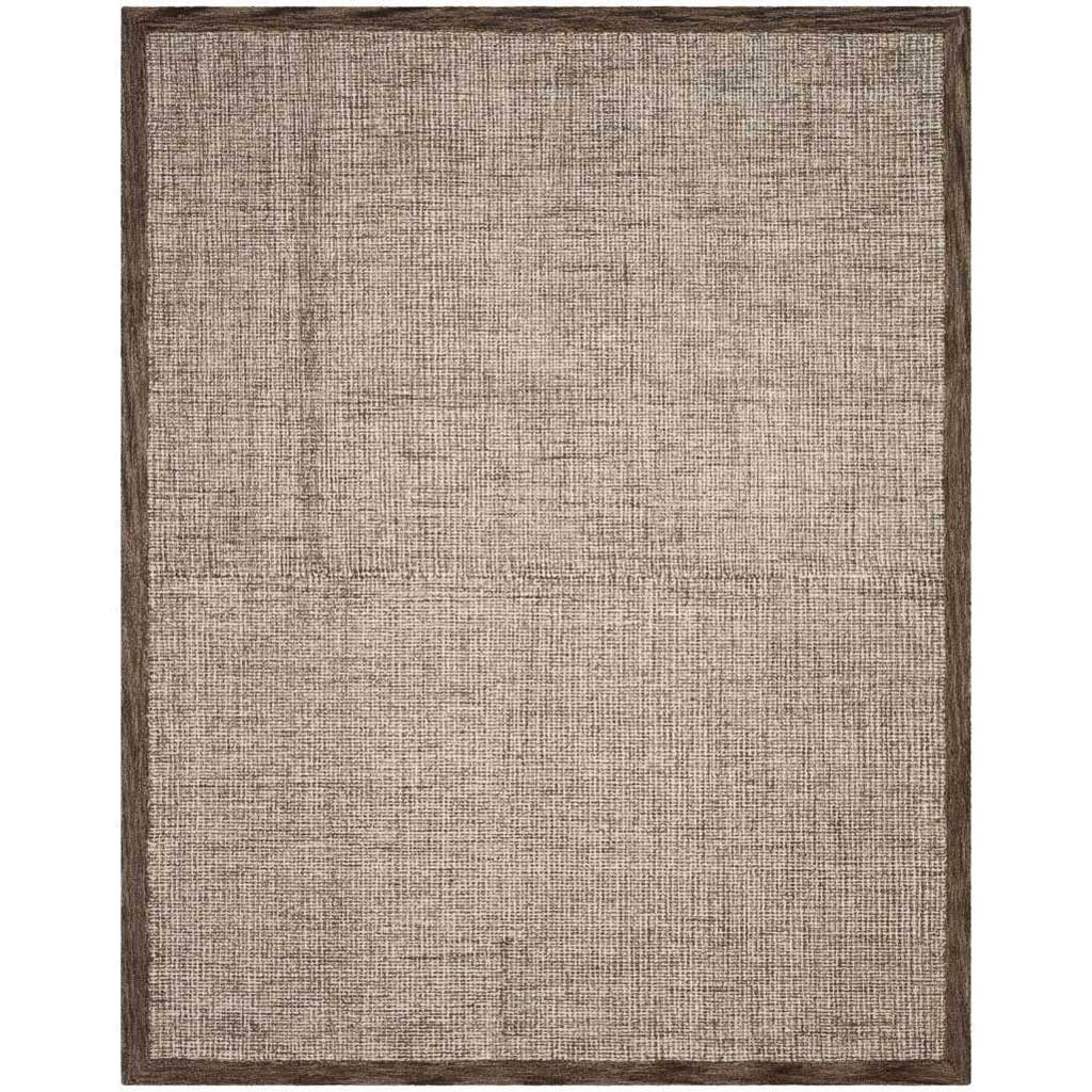 Abstract Brown/Ivory Area Rug