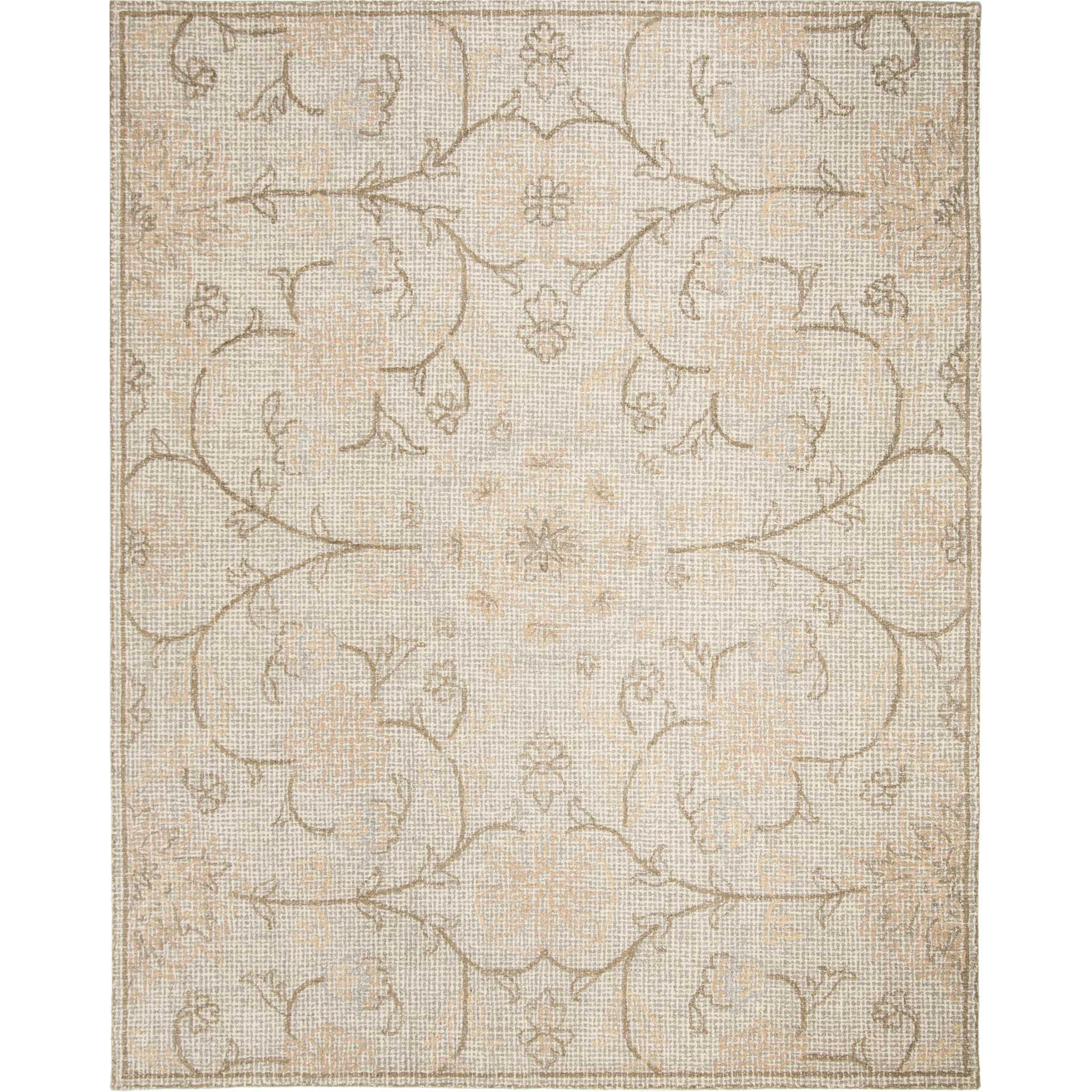 Abstract Light Gray/Ivory Area Rug
